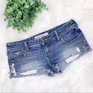 Hollister Ripped Distressed Cut Off Jean Shorts 7